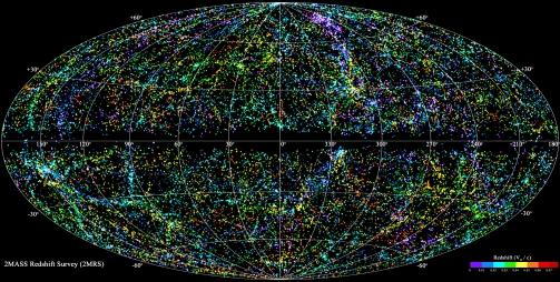 O mapa mais completo do universo, elaborado por astrônomos de forma colaborativa. Tente visualizar a terra daí. Apenas tente.