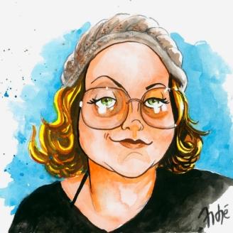 Essa sou eu, em aquarela, no traço de André Braga Jr.
